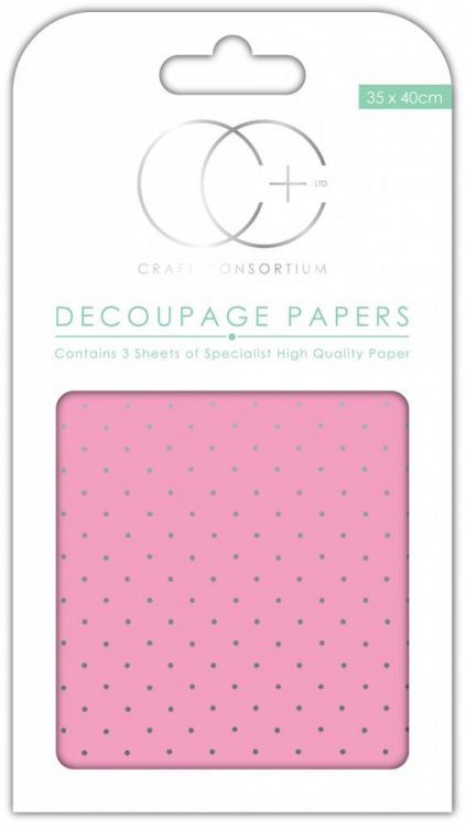craft-consortium-pink-with-silver-polka-decoupage
