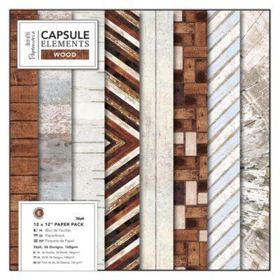 A Set de papeles, elements wood 12 x 12 , Lima, Perú, docrafts, papermania, PMA160250