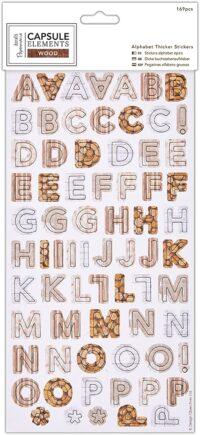 Alphabet stickers, Lima, Perú, docrafts papermanía, PMA351812
