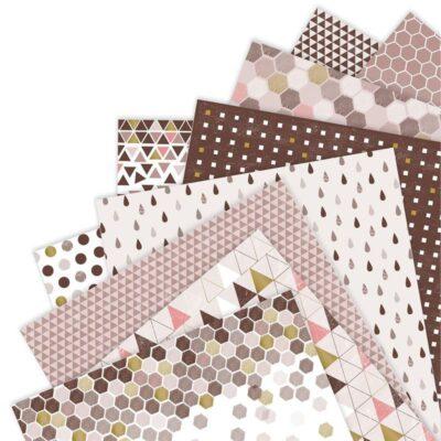 B Set de papeles 12 x 12 , Lima, Perú, docrafts, papermania, PMA160241