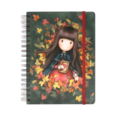 767GJ03 Gorjuss Large Wirobound Journal Autumn Leaves 1_HR