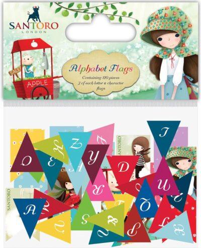 A Banderines de alfabeto, Lima, Perú, Craft Consortium, Santoro, Kori kumi, SKKBUNT001