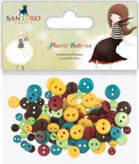 Botones, plástico, decoración, Lima, Perú, Santoro, Craft Consortium, SKKBTN001