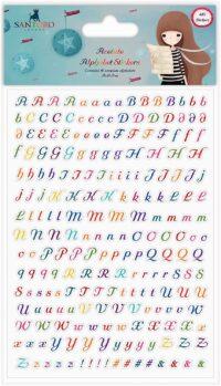 stickers, alfabeto, Lima, Perú, Craft Consortium, Santoro, Kori kumi, SKKSTKR001