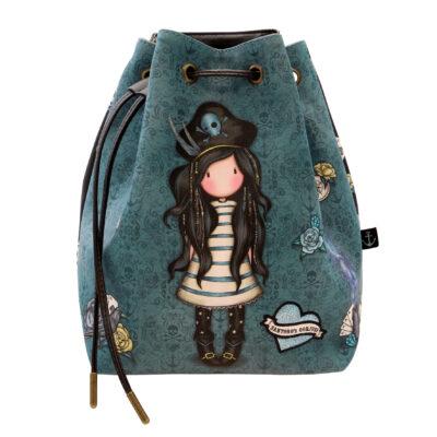 Bucket Bag Mochila, santoro london, gorjuss, black pearl, 1070GJ02, a