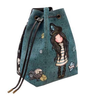 Bucket Bag Mochila, santoro london, gorjuss, black pearl, 1070GJ02, b