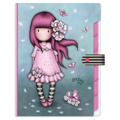Organizador de documentos, folder, carpeta,santoro london, Gorjuss, Cherry Blossom, 936GJ03, a