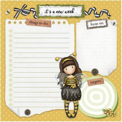 agenda, santoro london, gorjuss, bee loved, 857GJ02, b