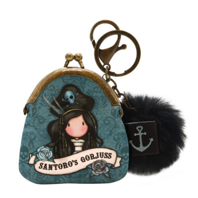 monedero, llavero, mini monedero, santoro london, gorjuss, Black Pearl, 919GJ06, a