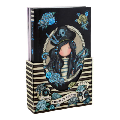 set de cuadernos, libretas, notebooks, jotters, santoro london, gorjuss, black pearl, 994GJ02, a