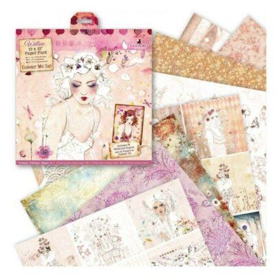 set de papeles, papeles scrapbook, santoro, west design, WIL 160100, b