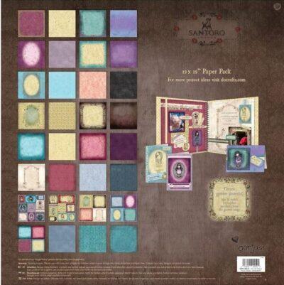 set de papeles, papeles scrapbook, santoro, west design, gorjuss, GOR 160116, b